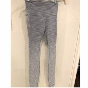 Lululemon high waisted ombre grey white